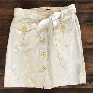 Adrienne Vittadini Linen Button-up Short Skirt 4